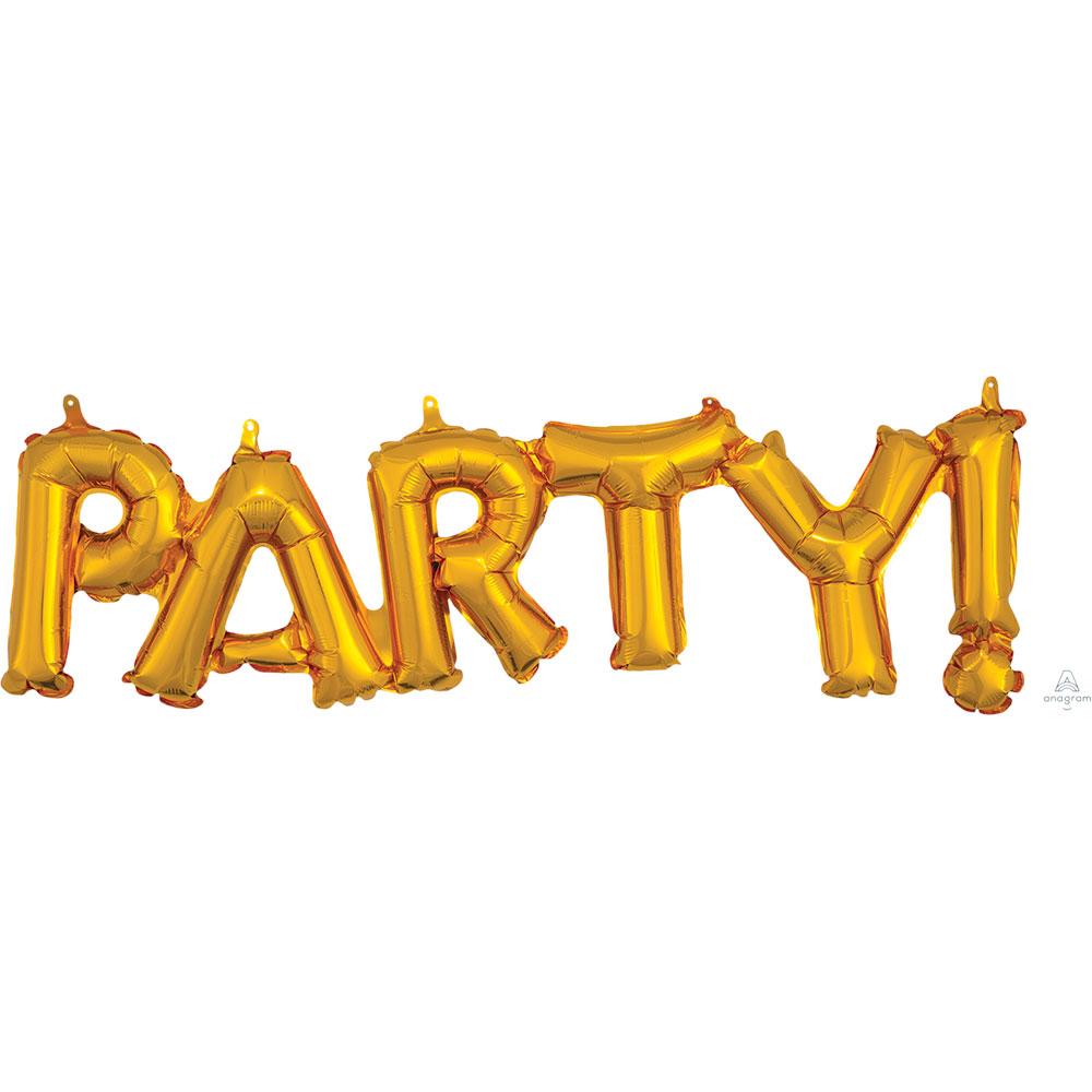 33762 「PARTY」(ゴールド)