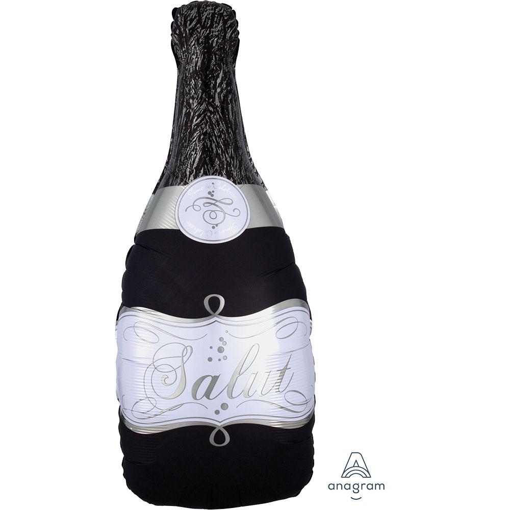 36046 バブリーワイン ボトル ブラック