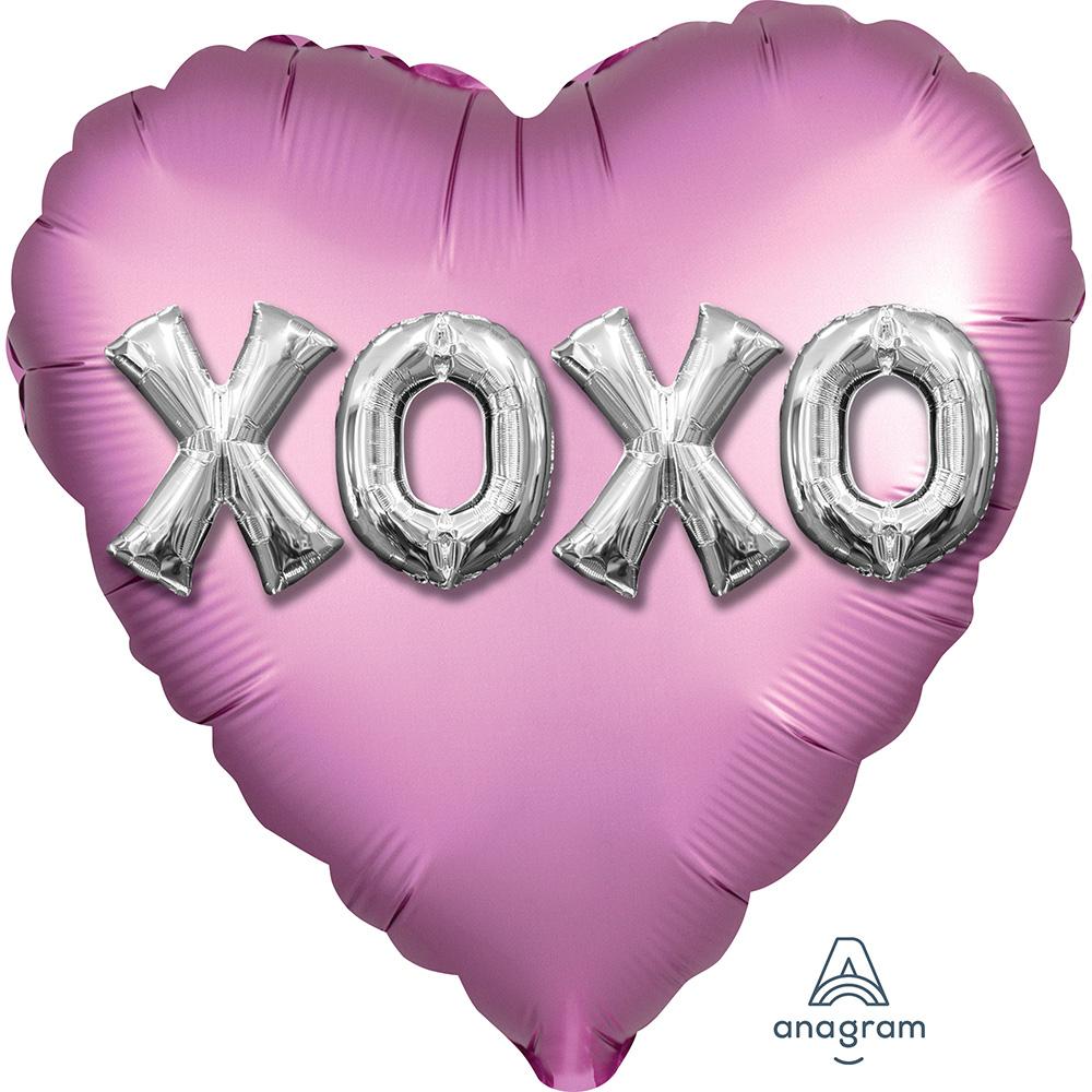 Satin XOXO Balloon Letters
