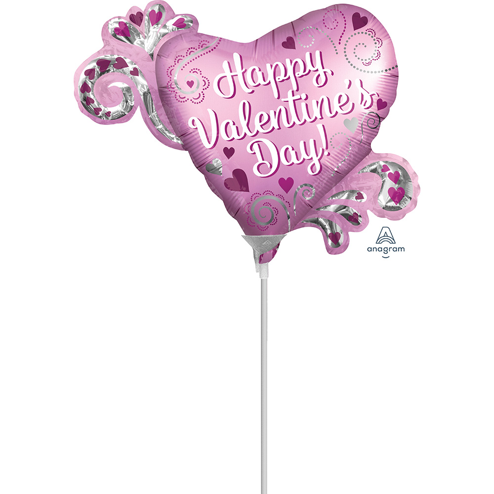 Mini Shape Satin HVD Heart with Swirls