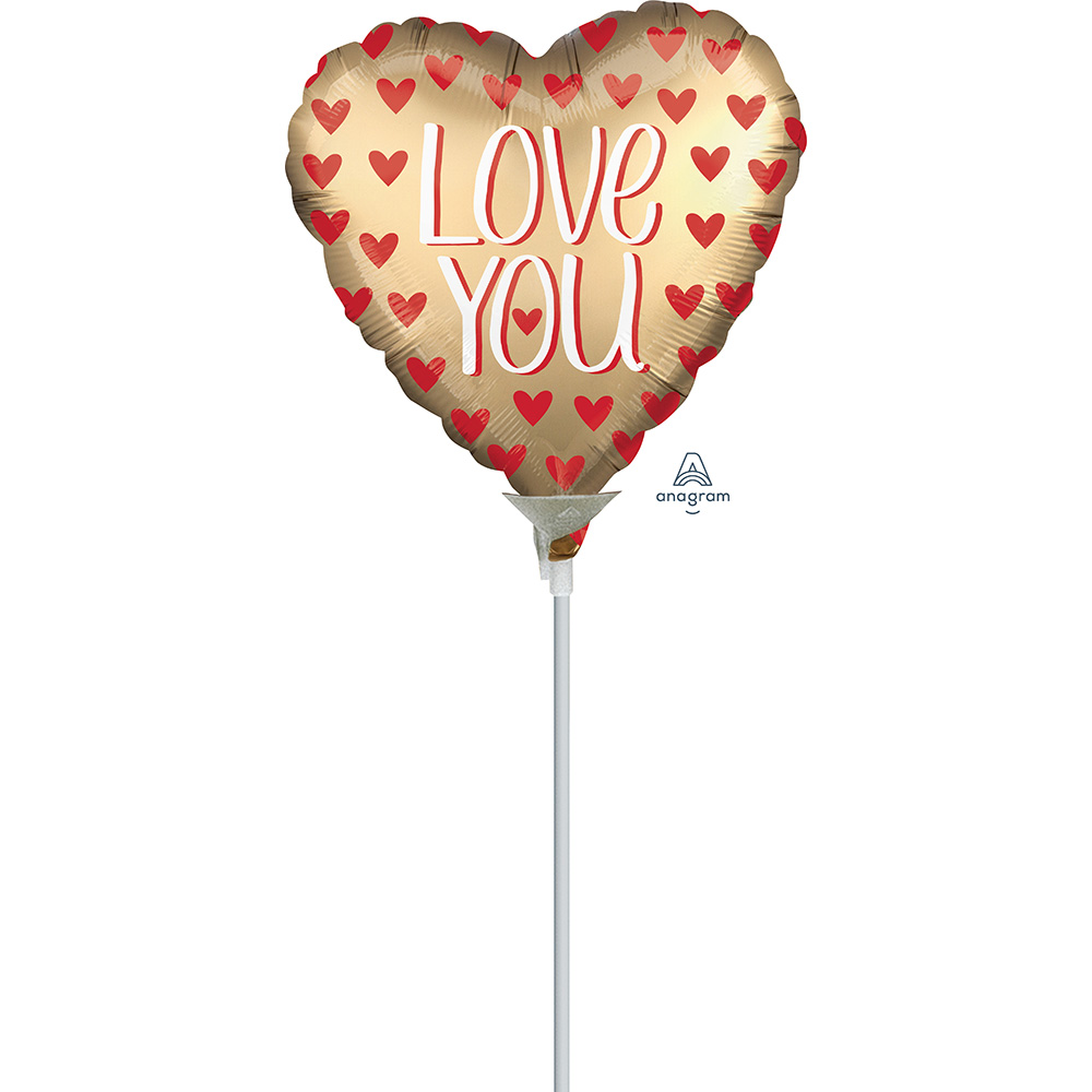 4″, 9″ Satin Love You Gold