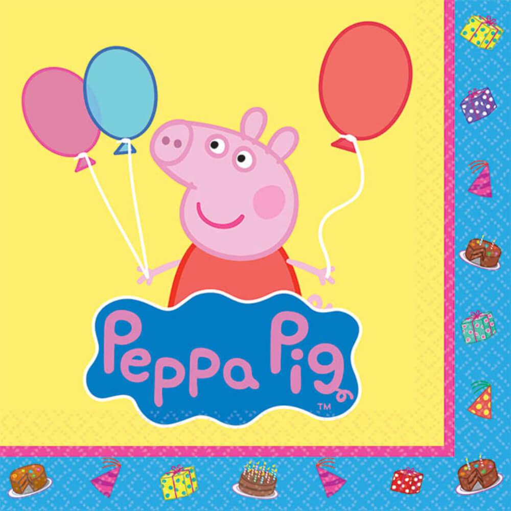 Beverage Napkins Peppa Pig