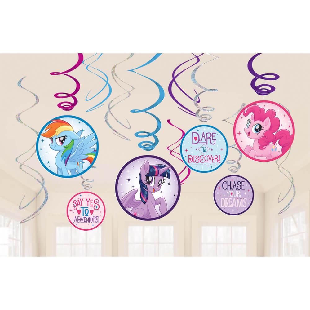 Foil & Iridescent Swirl Decorations My Little Pony Friendship Adventures™