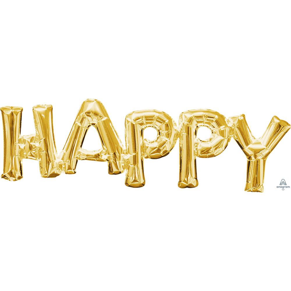 33755 「HAPPY」(ゴールド)