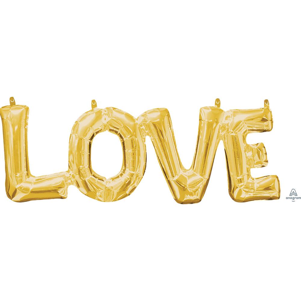 33767「LOVE」(ゴールド)