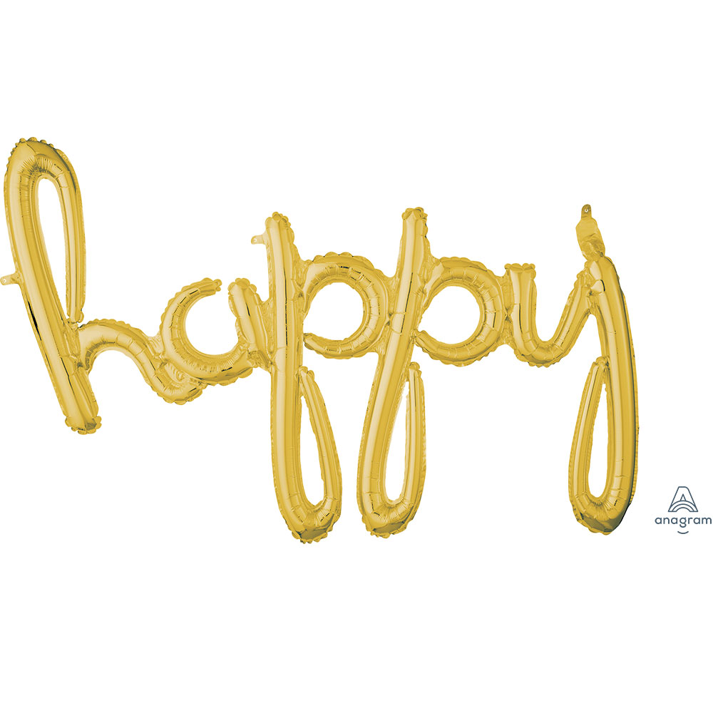 "37644 ""happy"" (ゴールド)"