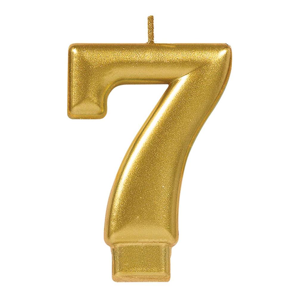 170423 メタリックナンバーキャンドル「7」( ゴールド)