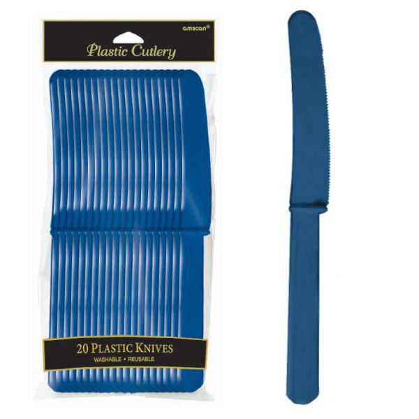 4548.74 プラスティック ナイフ(ネイビー フラッグ ブルー)