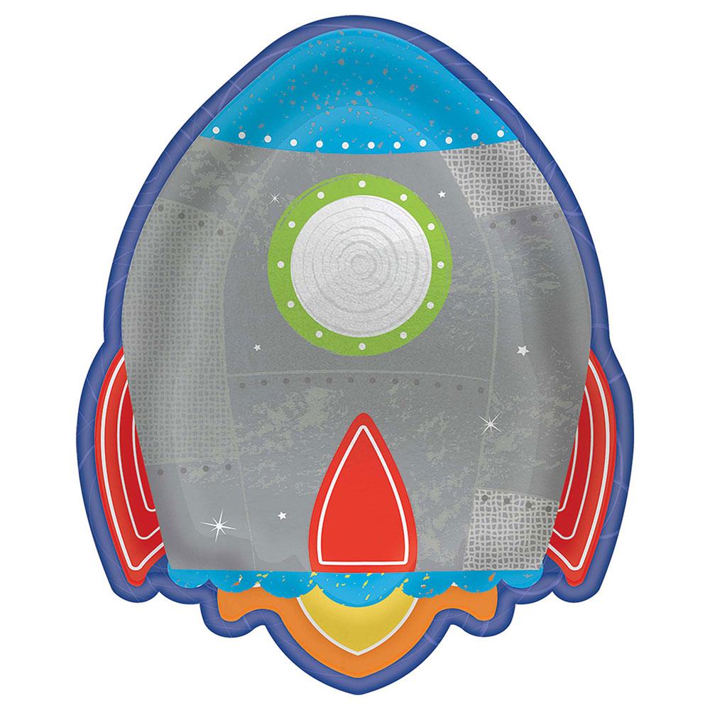 5472278  ロケットシェイプ プレート『ブラスト オフ バースデー』
