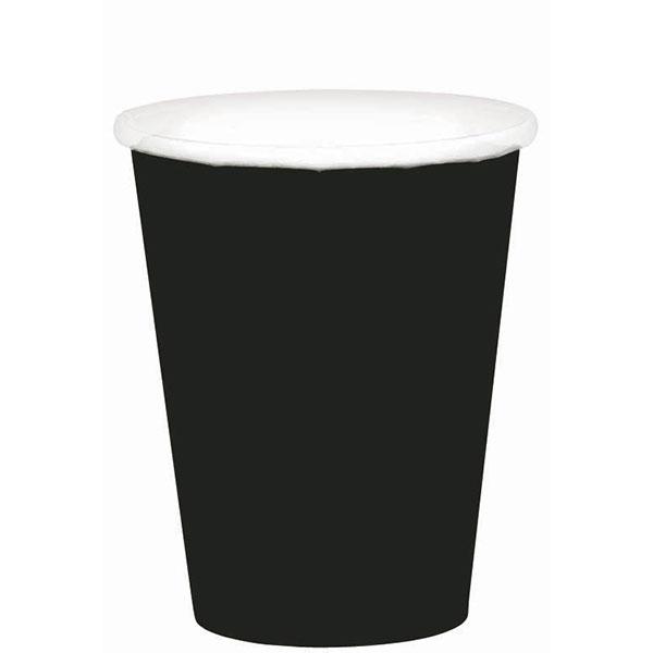 58015.10 ペーパーカップ 9オンス (ジェット ブラック)