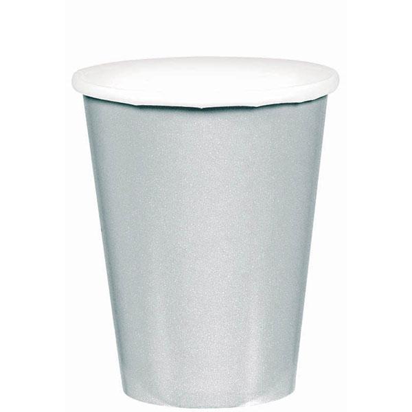 58015.18 ペーパーカップ 9オンス (シルバー)