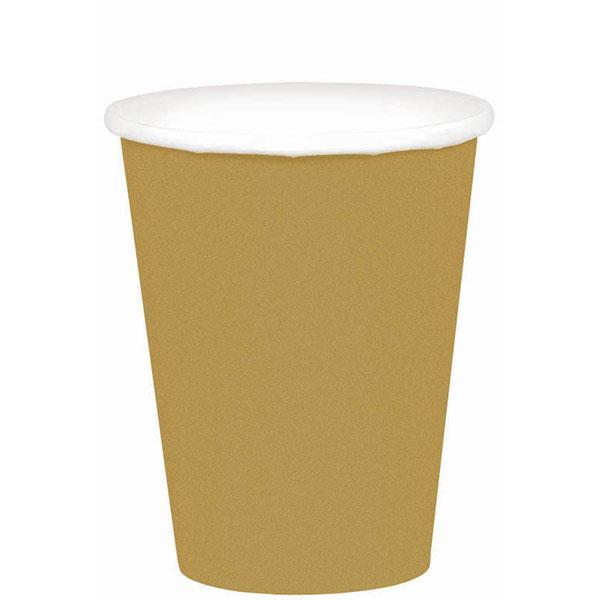 58015.19 ペーパーカップ 9オンス (ゴールド)