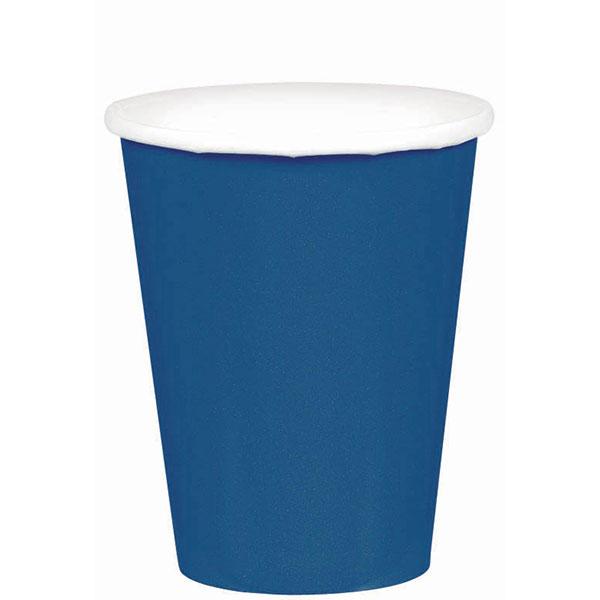 58015.74 ペーパーカップ 9オンス(ネイビー フラッグ ブルー)
