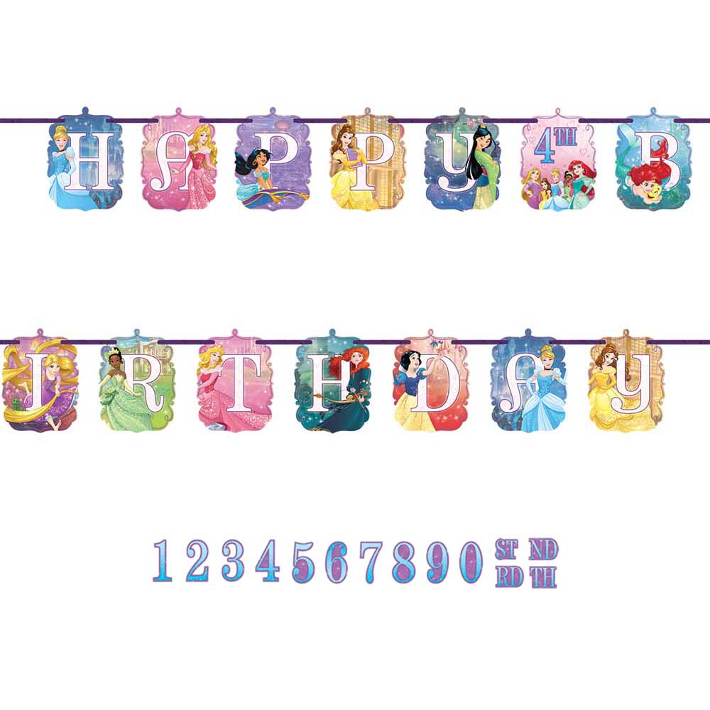 121621 リボン レターバナー『ディズニープリンセス ドリームビッグ』
