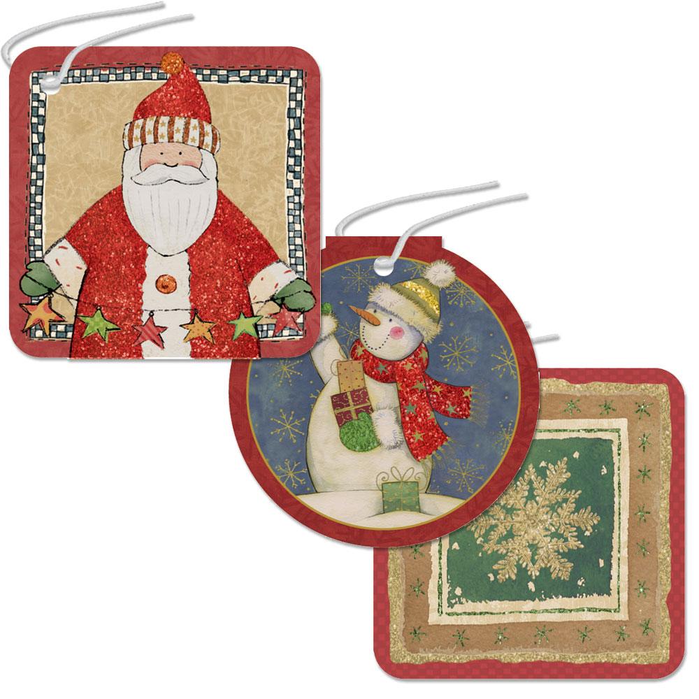 262069 チャームタグ クリスマス クラフト グリッター
