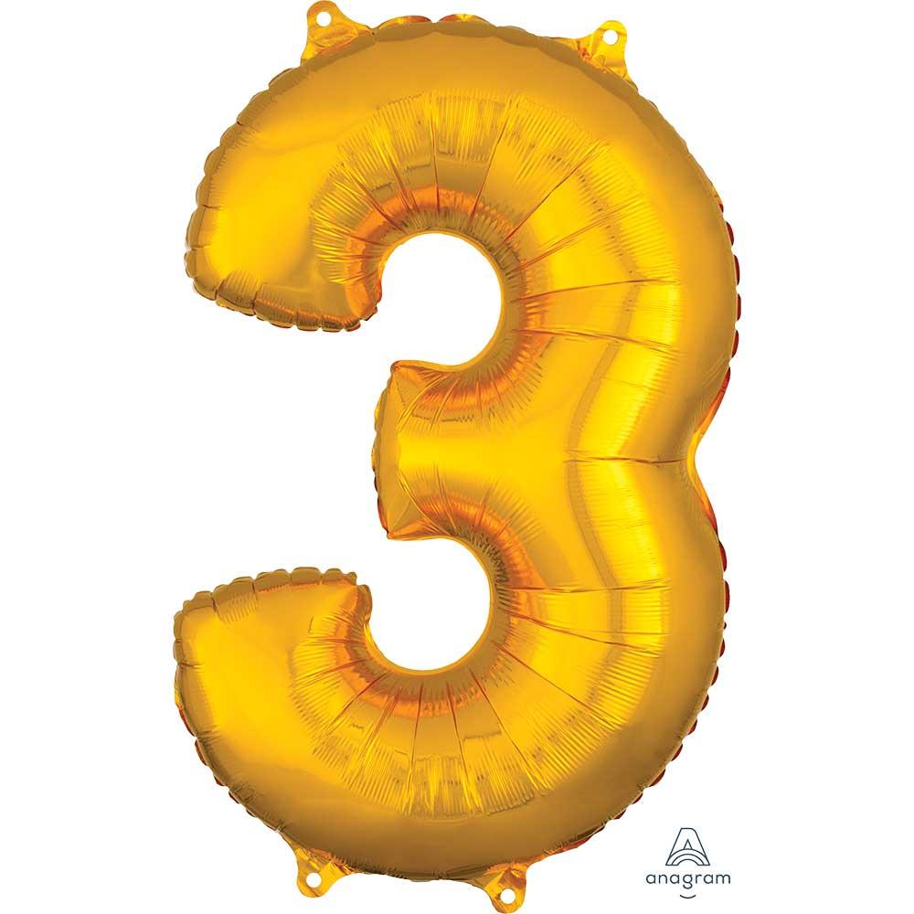 """36556 ナンバー 「3」(26""""ゴールド)"""