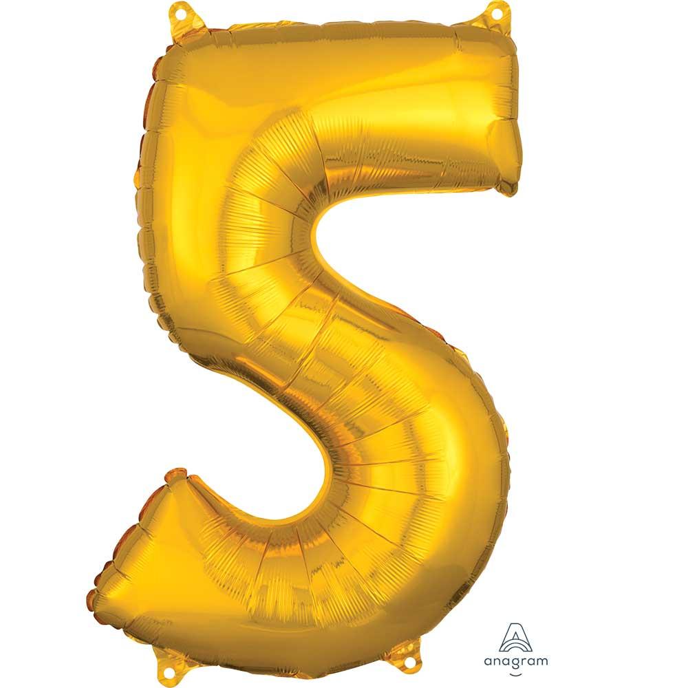 """36558 ナンバー「5」(26""""ゴールド)"""