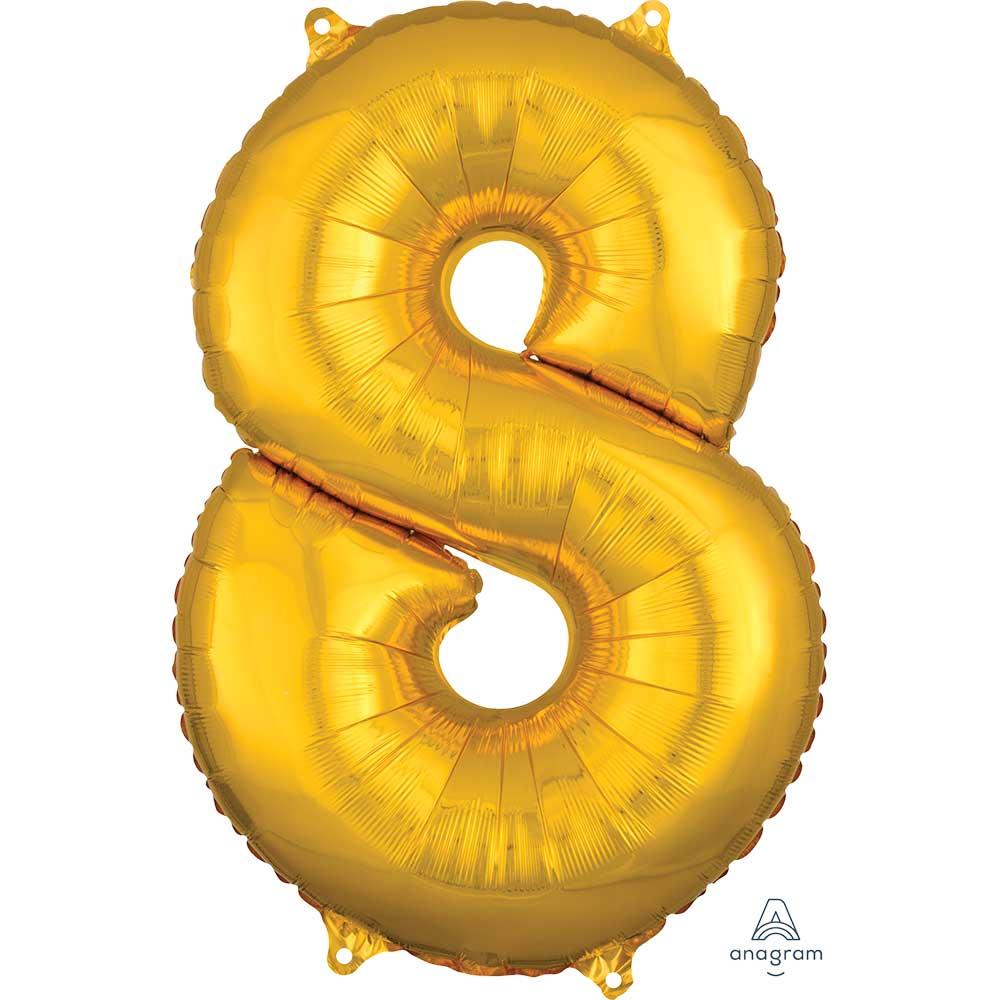"""36561 ナンバー 「8」(26""""ゴールド)"""