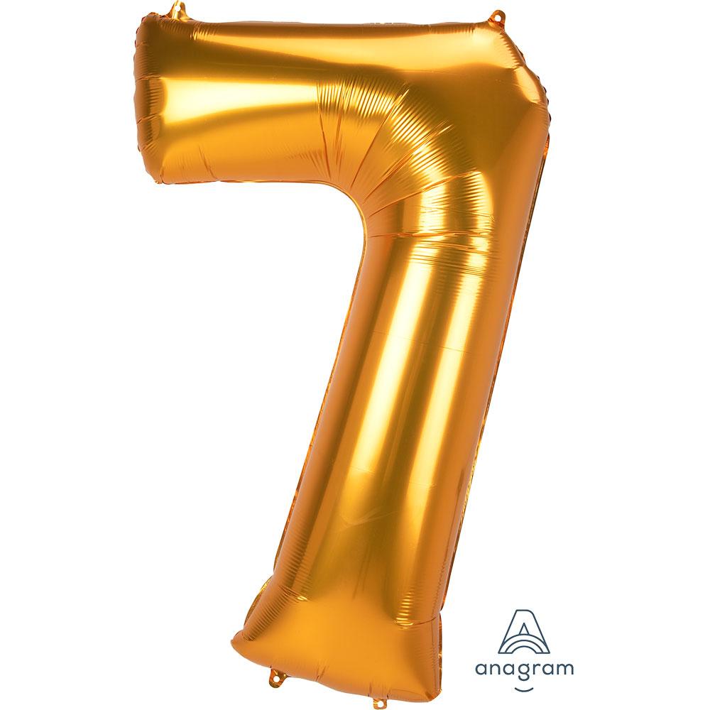 38916 ジャンボ ナンバー「7」(53″ゴールド)