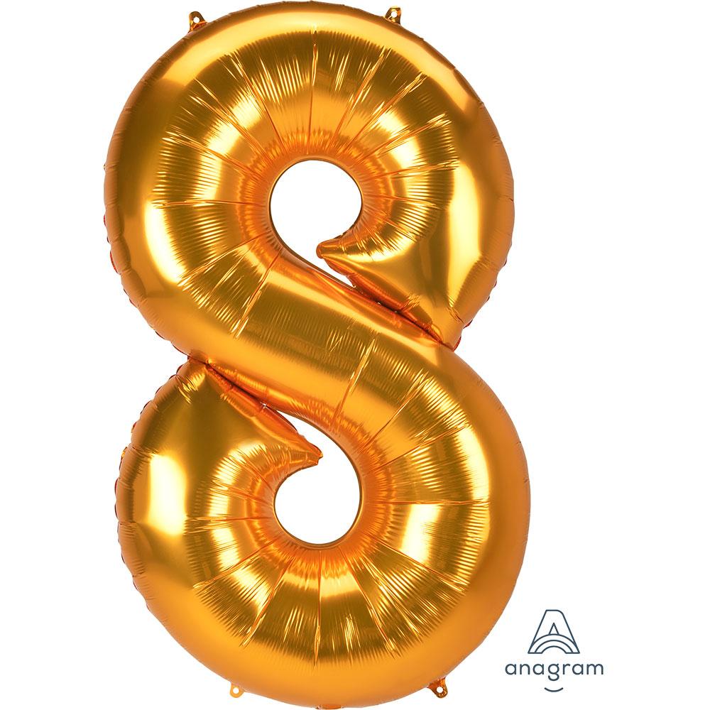 """38917 ジャンボ ナンバー 「8」(53""""ゴールド)"""