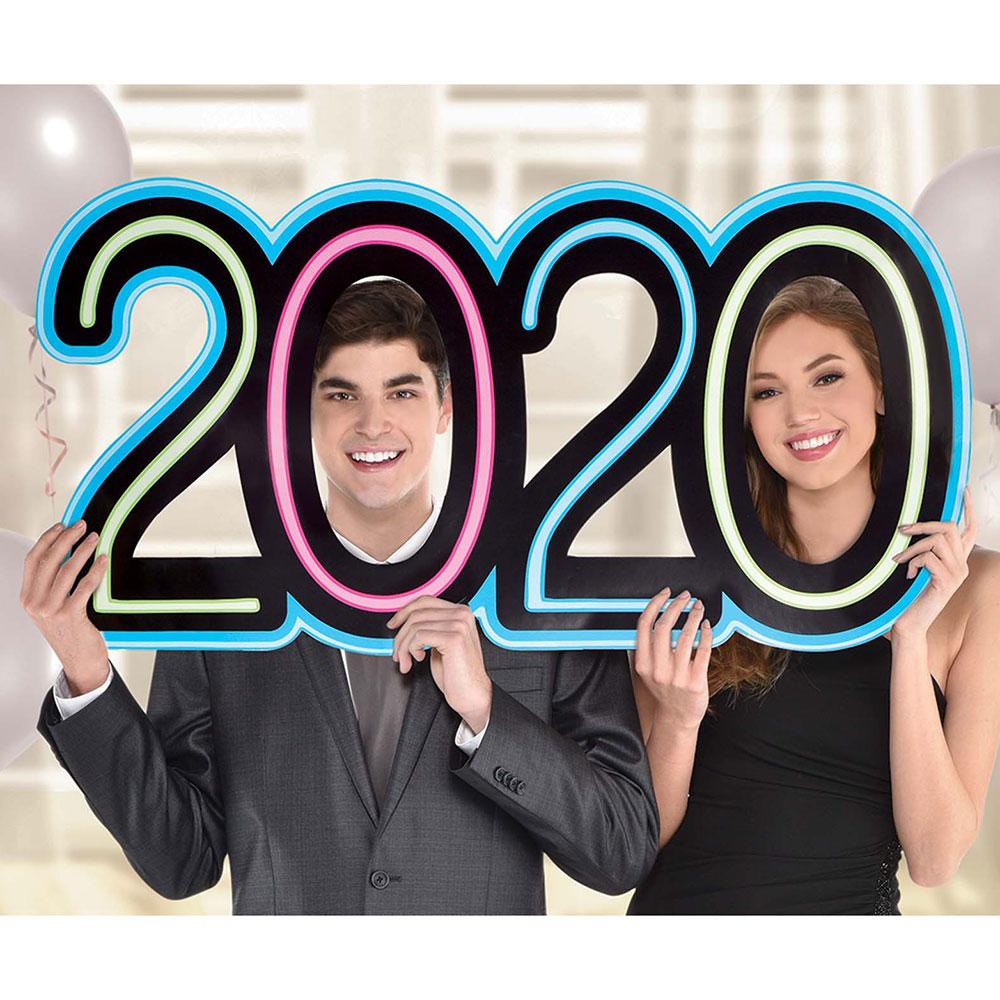 """3901246 """"2020"""" ジャイアント ネオン フォトプロップ"""