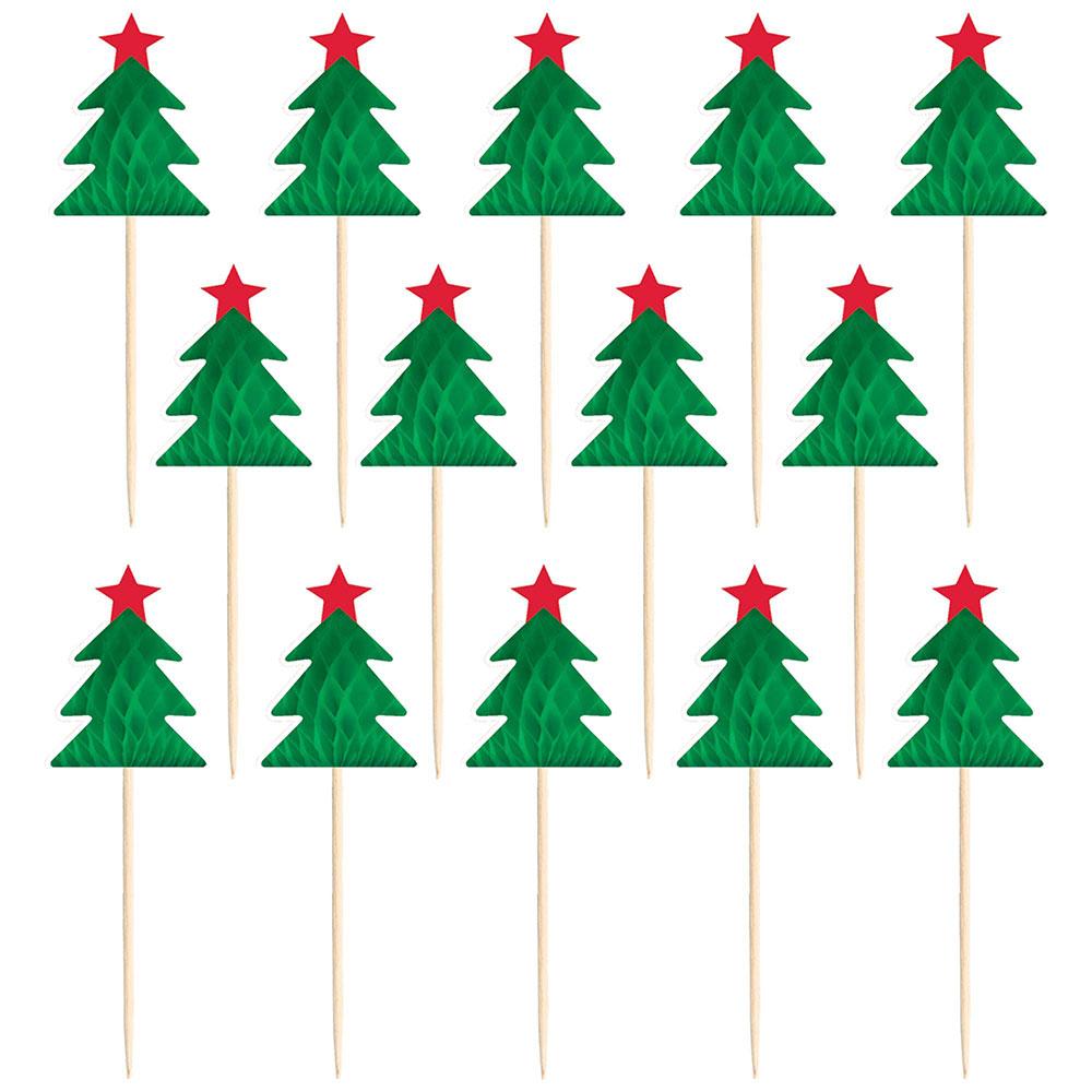400260 ハニカム パーティーピック クリスマスツリー