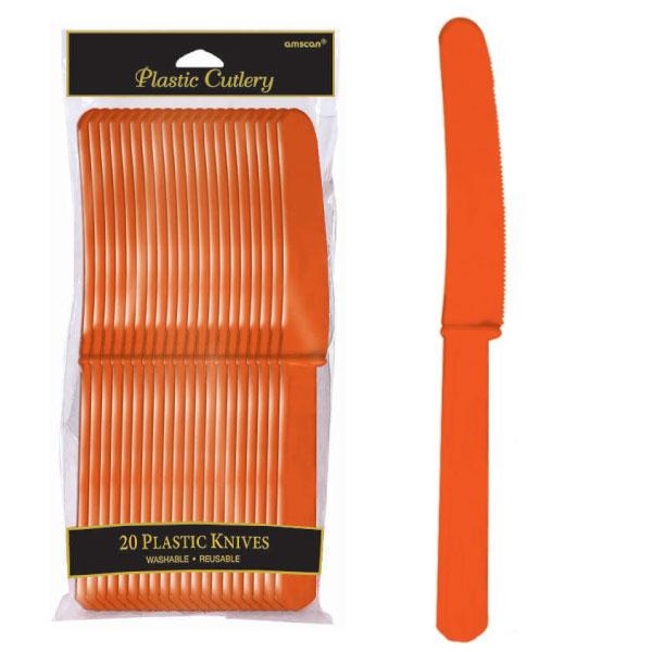 4548.05 プラスティック ナイフ(オレンジ ピール)