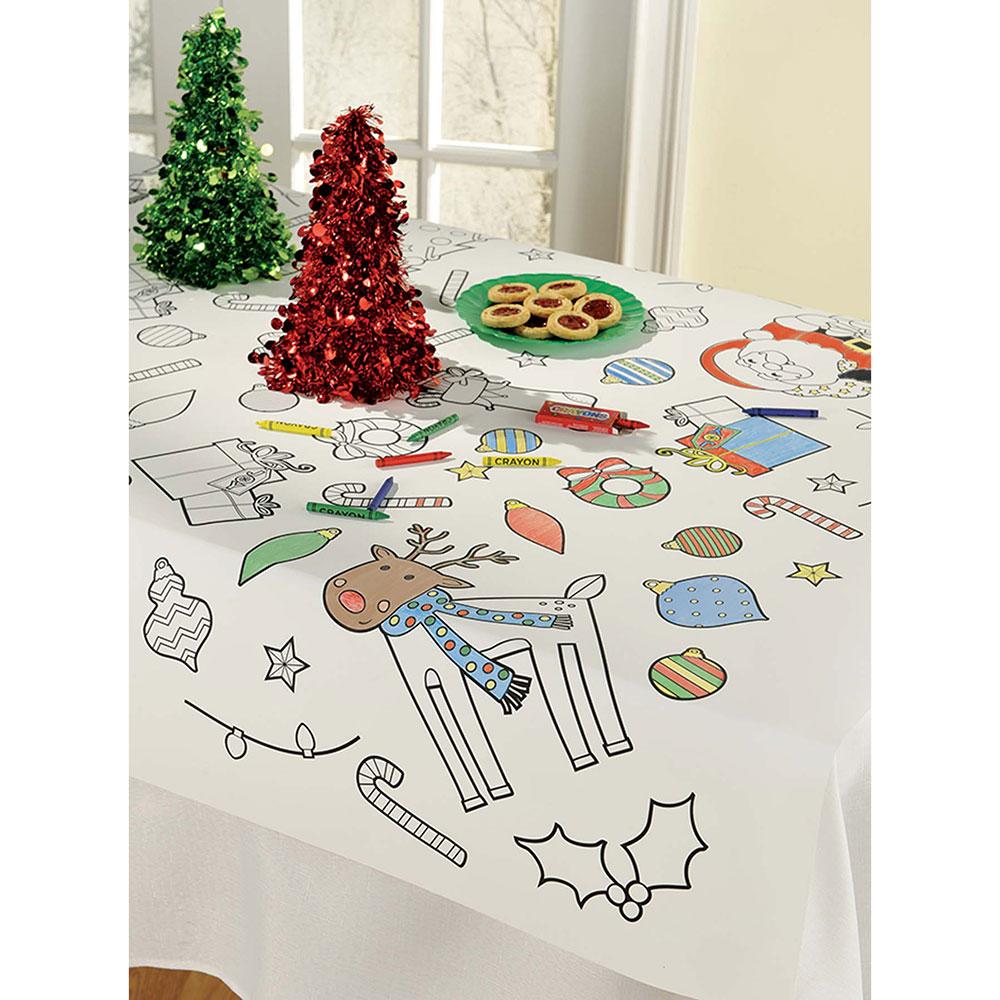 570049 クリスマス ぬりえ テーブルカバー