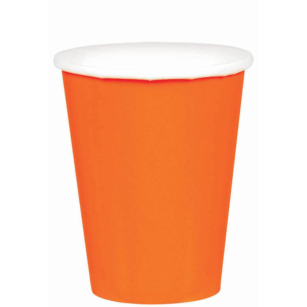58015.05 ペーパーカップ 9オンス (オレンジ ピール)