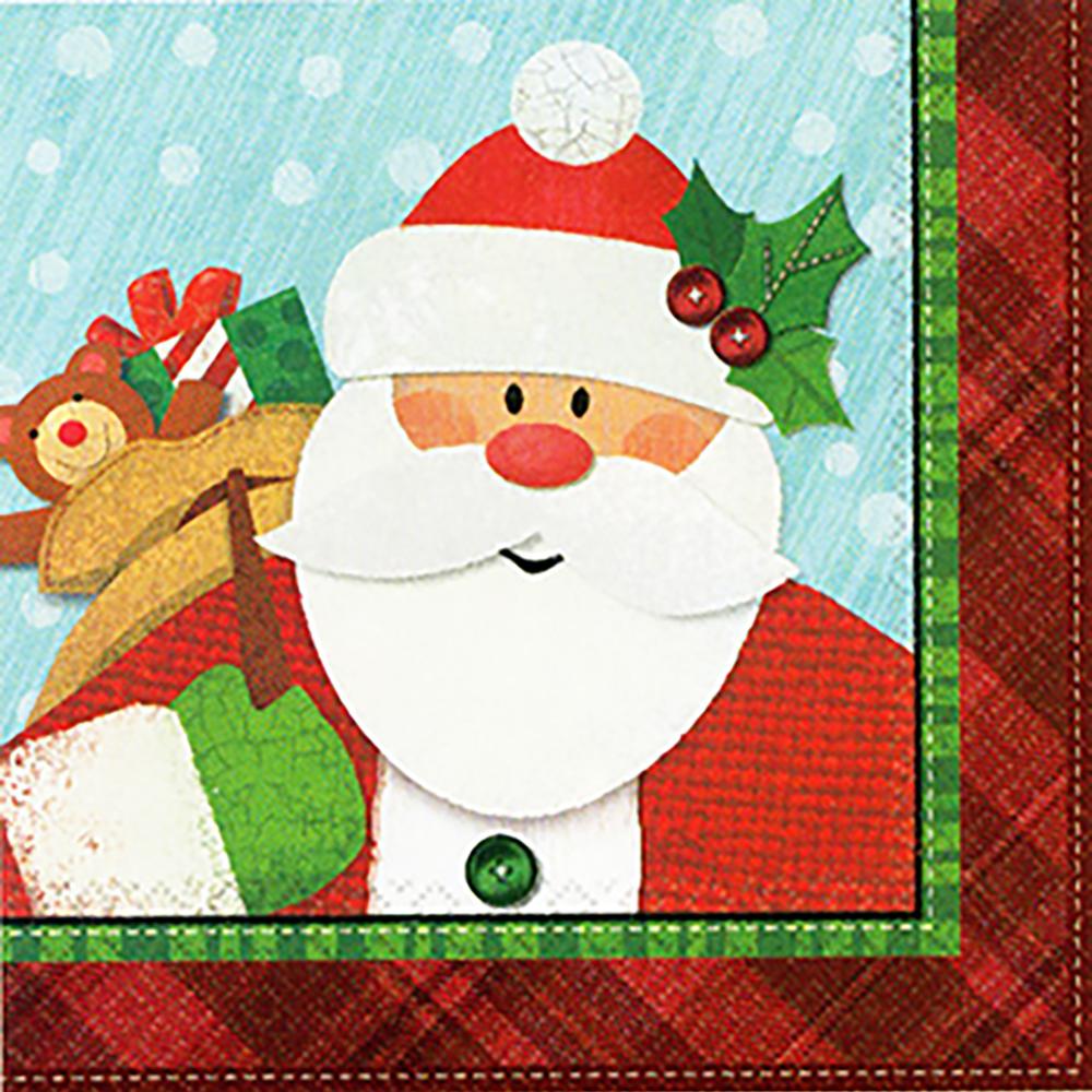 509918 ビバレッジナプキン『クラフティ クリスマス』
