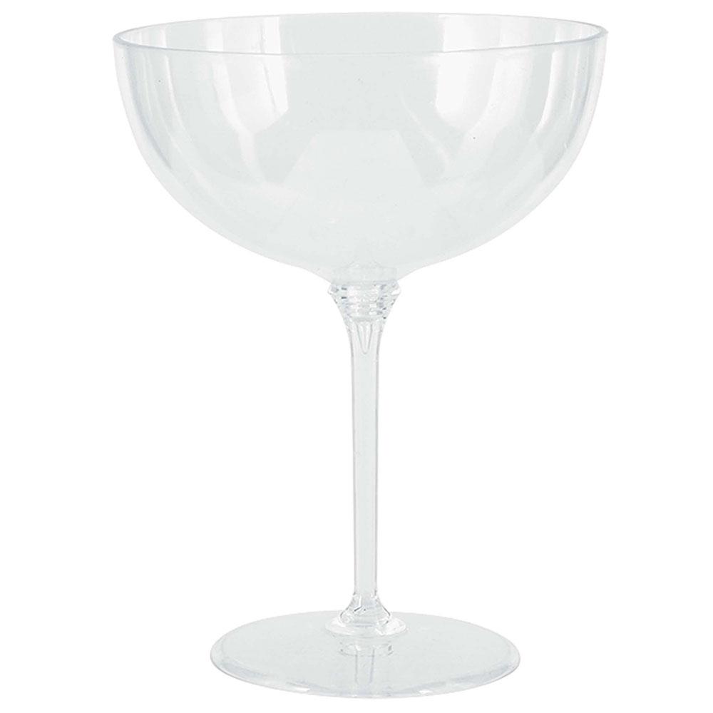 350394.86 クープ シャンパン ソーサー(クリア)