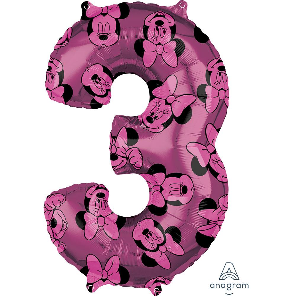 """40138 ミニーマウス フォーエバー ナンバー「3」(26"""")"""