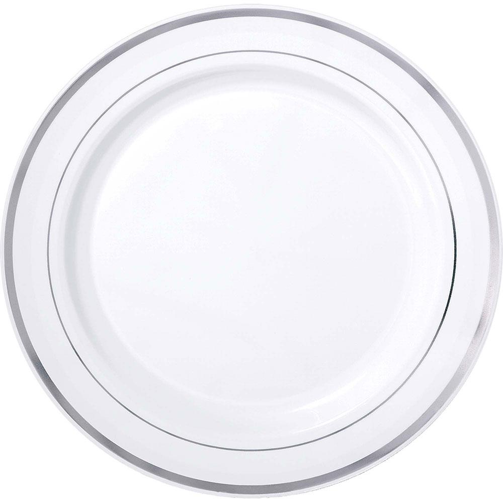430089 プレミアム トレイ(ホワイト/シルバートリム)