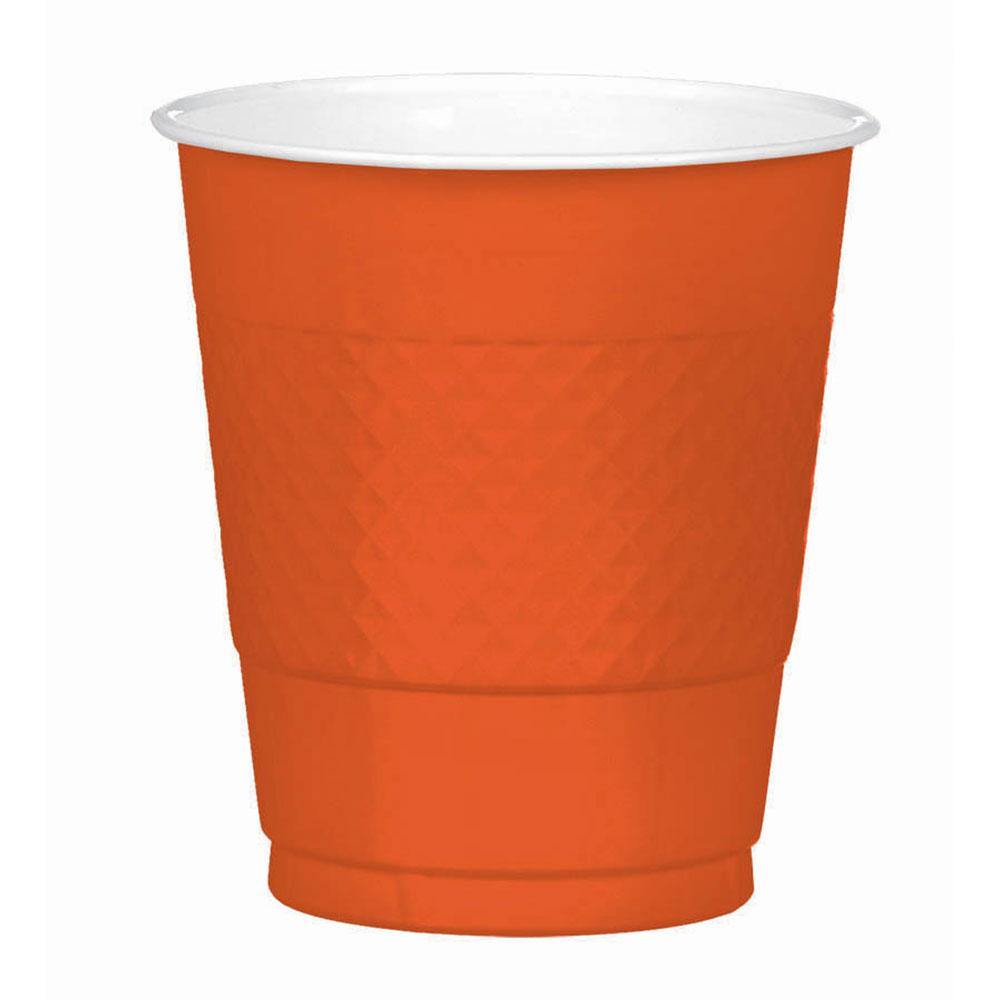 43036.06 プラスチック カップ 12オンス(オレンジピール)