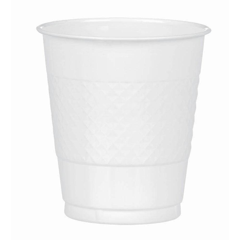 43036.08 プラスチック カップ 12オンス(フロスティホワイト)