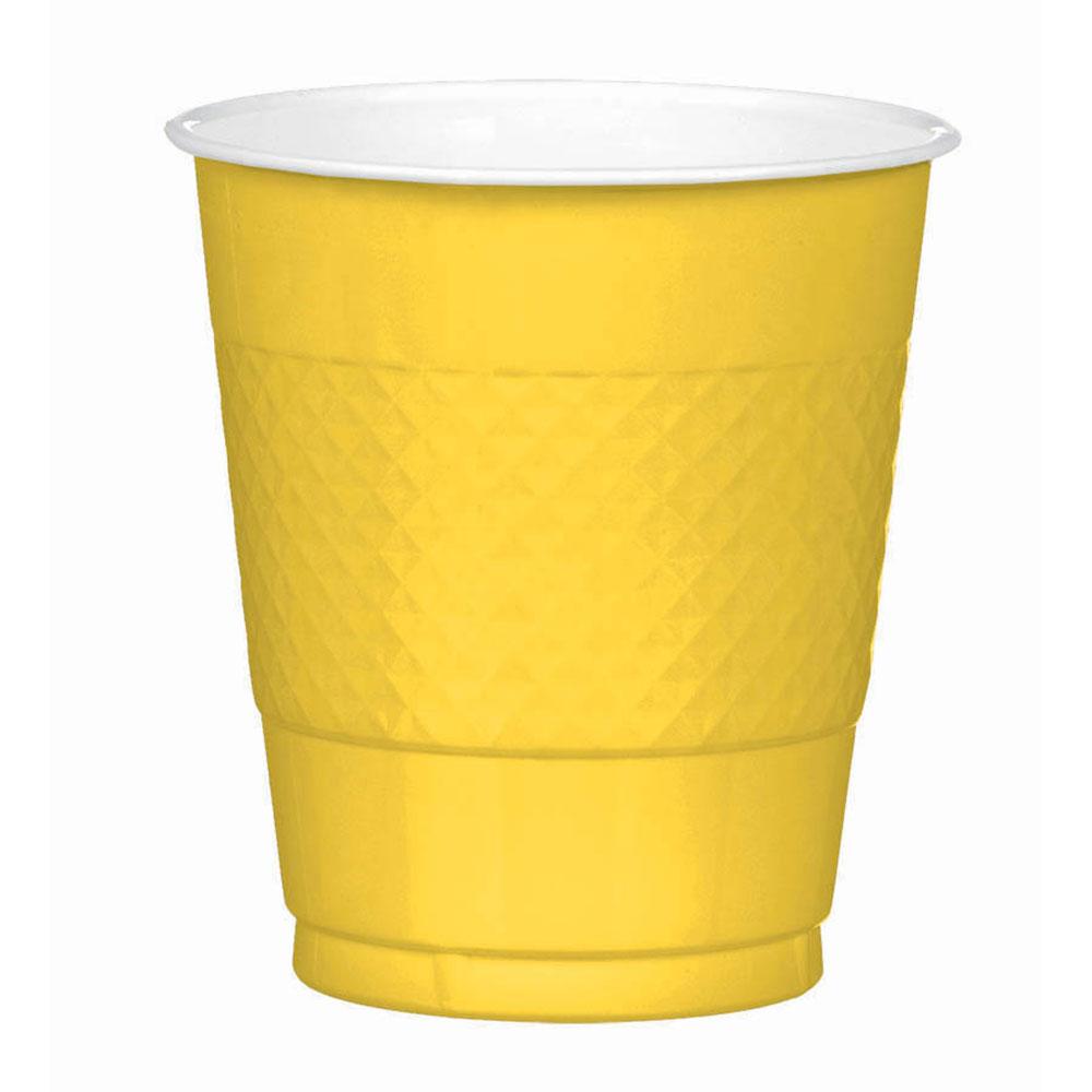 43036.09 プラスチック カップ 12オンス(イエローサンシャイン)