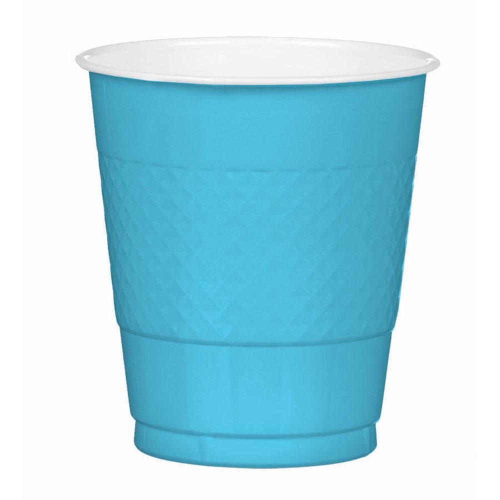 43036.54 プラスチック カップ 12オンス(カリビアンブルー)