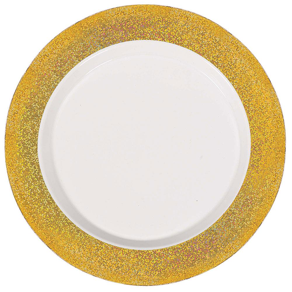 430536.19/430538.19 プレミアム プラズマティックボーダー プレート(ホワイト/ゴールド)