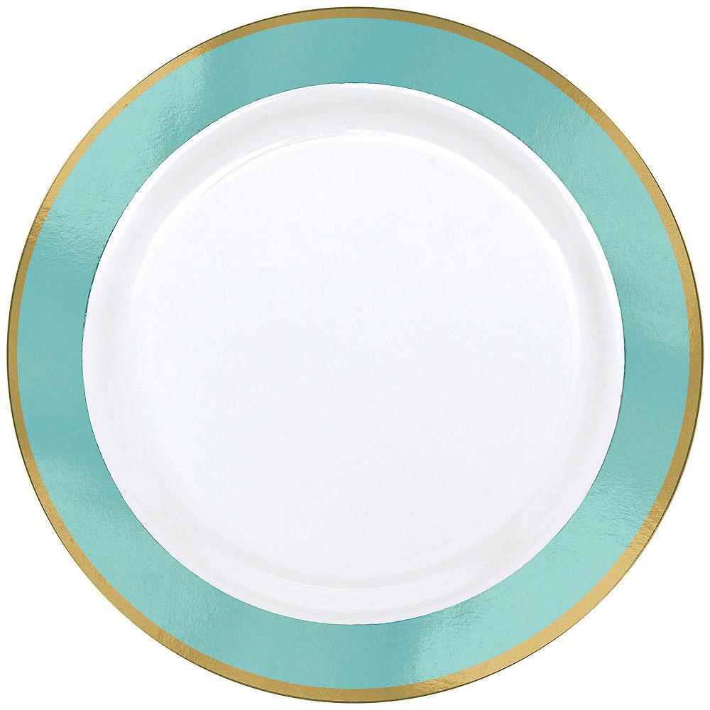 430584.121/430583.121 プレミアム ボーダー プレート(ホワイト/ロビンズエッグ ブルー)