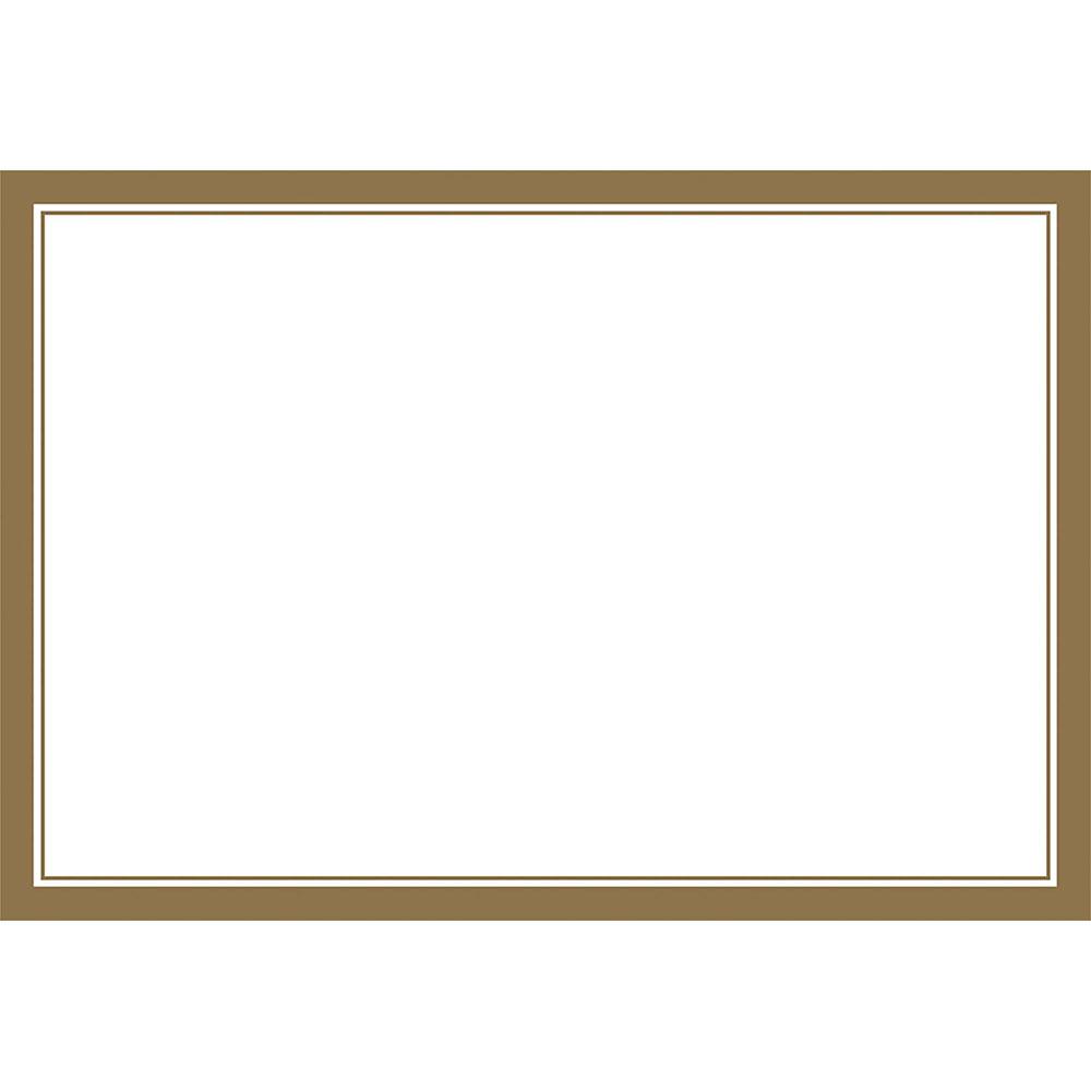 670603.19 プレースマット(ホワイト/ゴールドトリム)