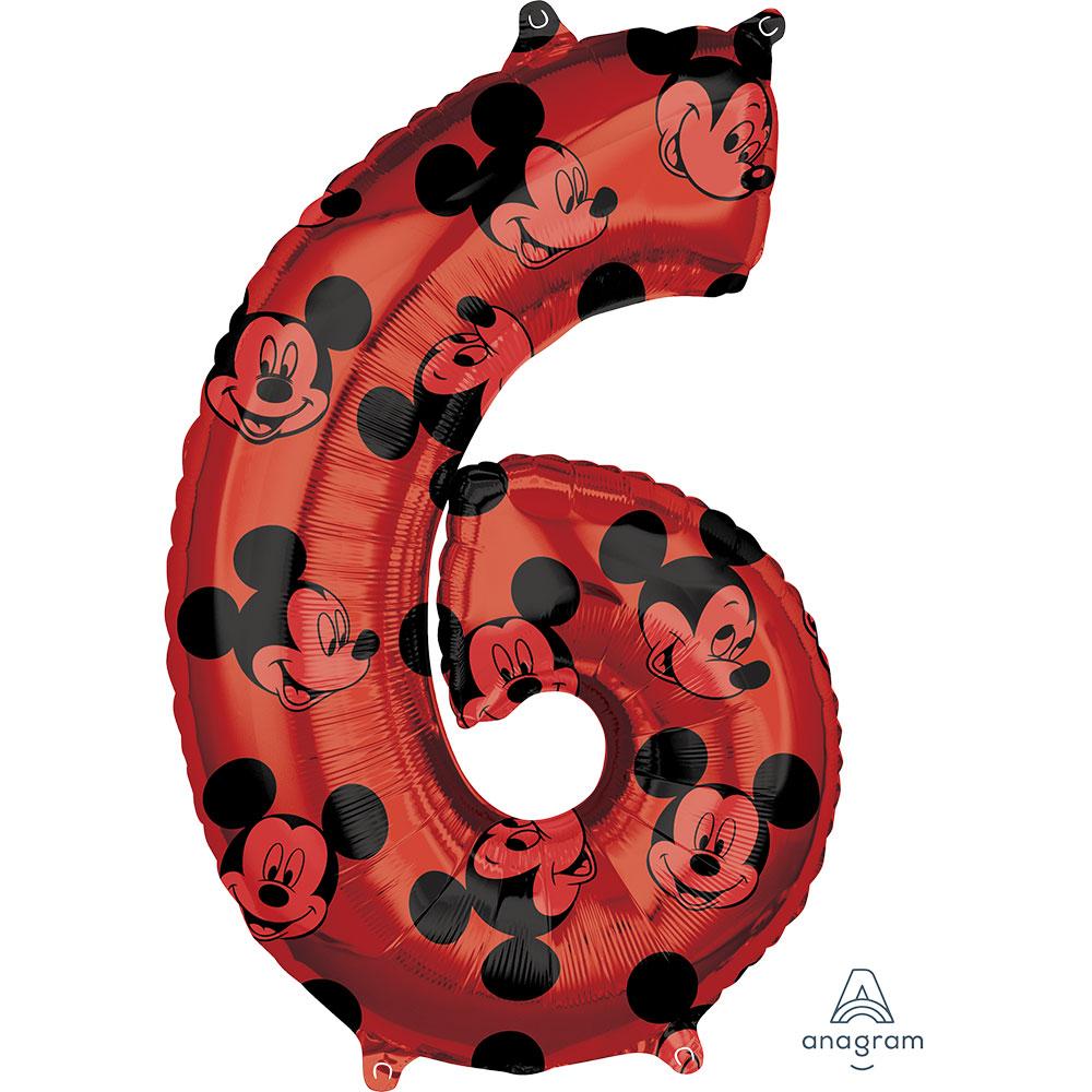 """41707 ミッキーマウス フォーエバー ナンバー「6」(26"""")"""