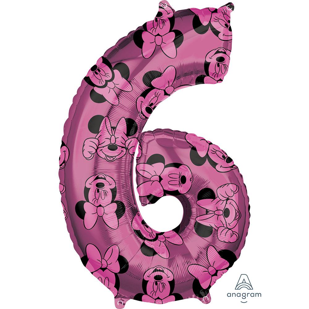 """41708 ミニーマウス フォーエバー ナンバー「6」(26"""")"""
