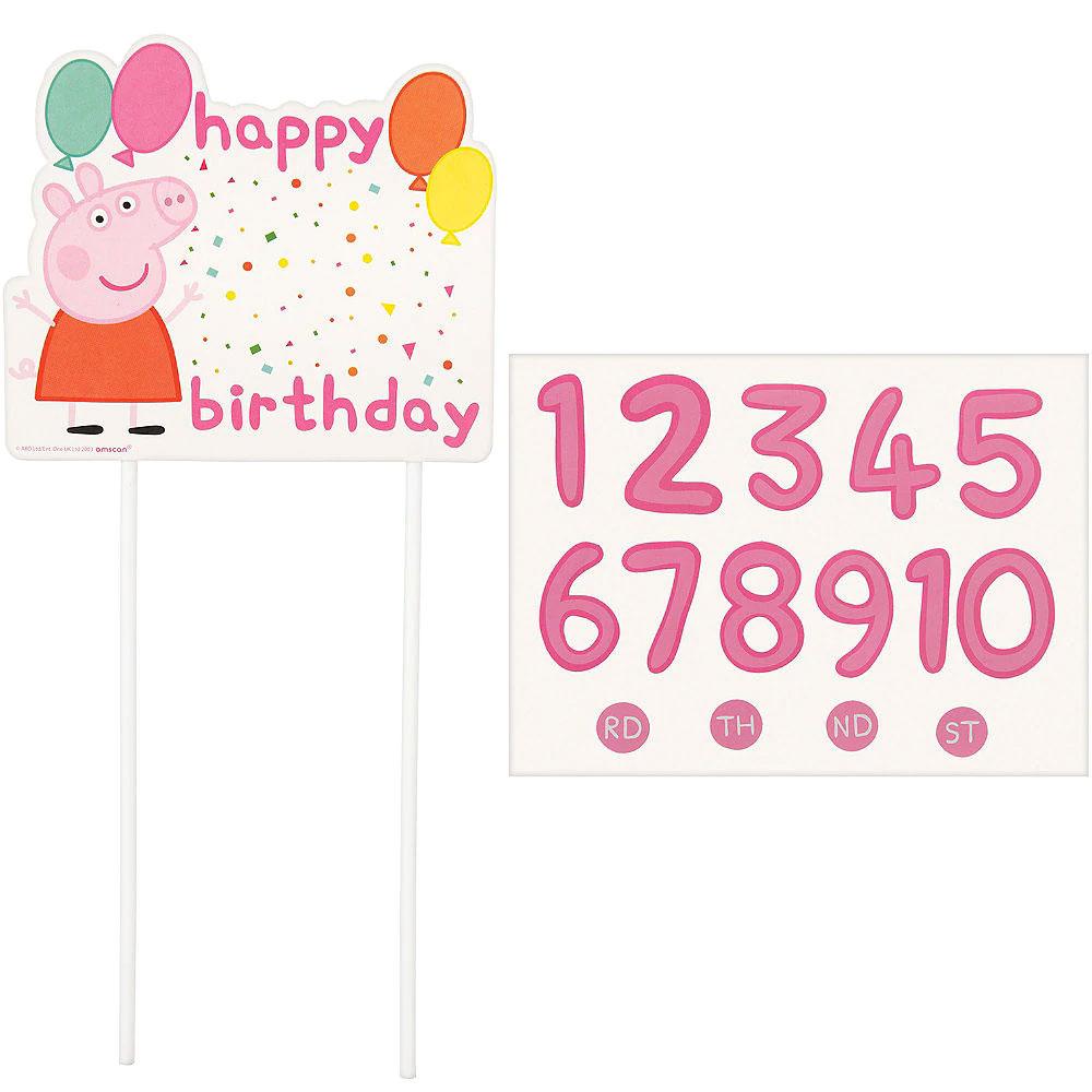102626 カスタマイズ ケーキデコレーション『ペッパピッグ コンフェティパーティー』