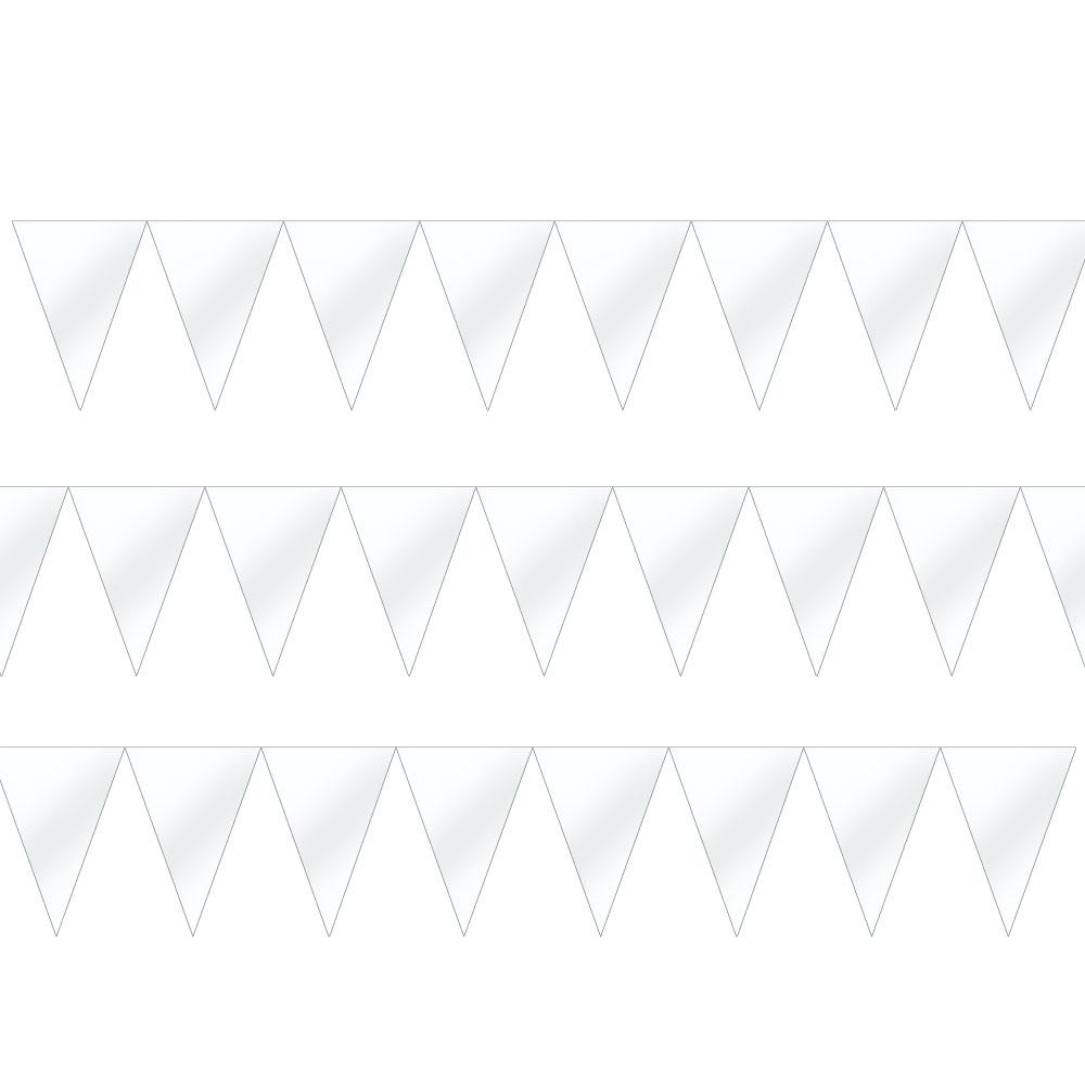 120099.08 ペーパーペナントバナー(フロスティホワイト)