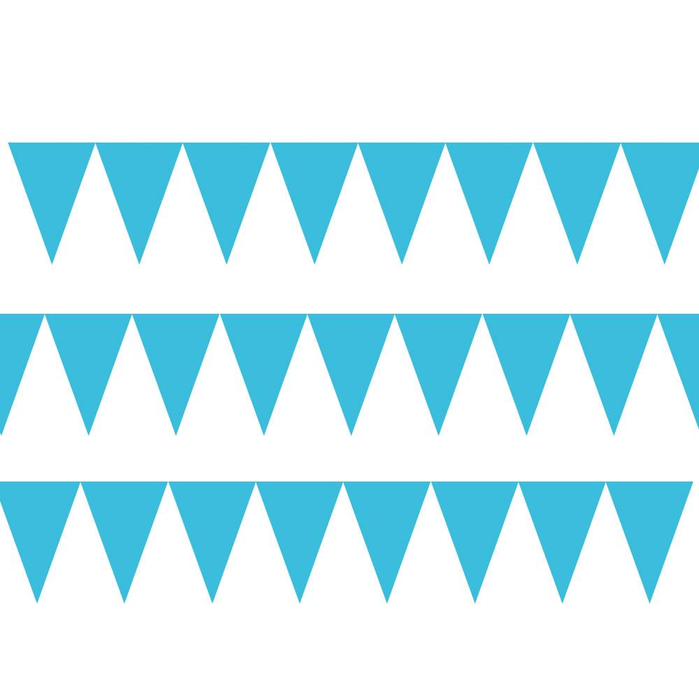 120099.54 ペーパーペナントバナー(カリビアンブルー)
