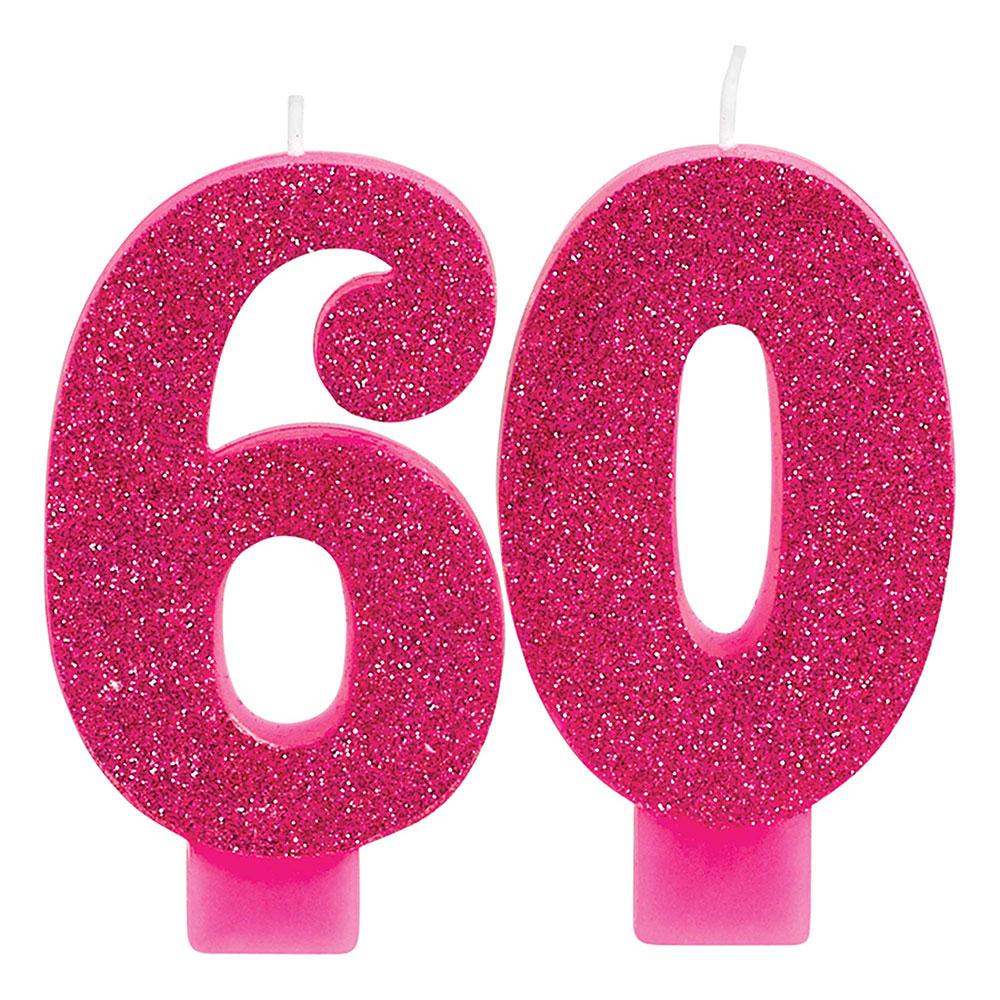 171916 ナンバーキャンドル「60」(ピンク&ゴールド)