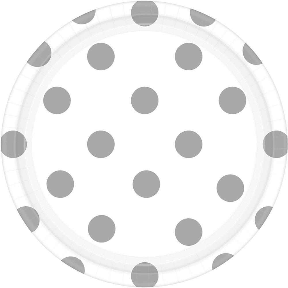 541537.08 ドット プレート 7インチ(フロスティホワイト)