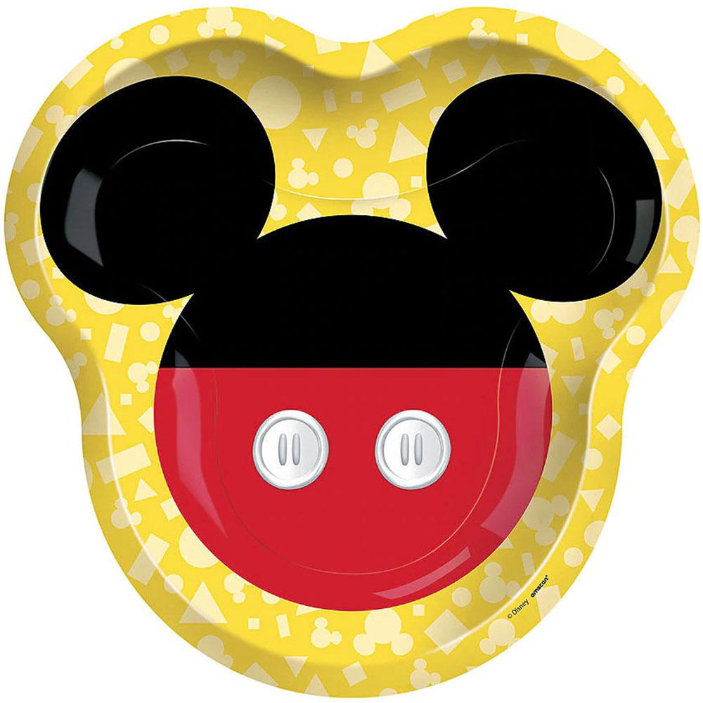 5572480 10.5インチ シェイププレート『ミッキーマウス フォーエバー』