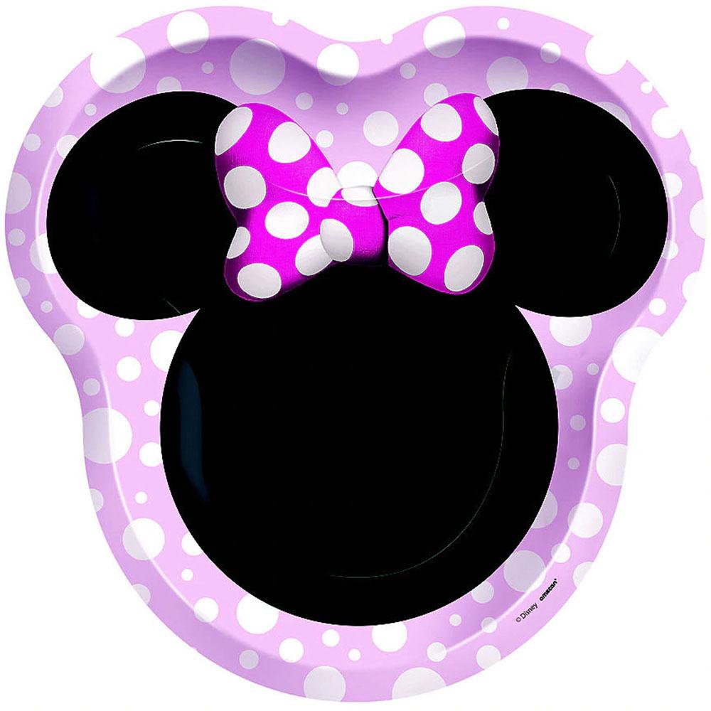 557292 10.5インチ シェイププレート『ミニーマウス フォーエバー』