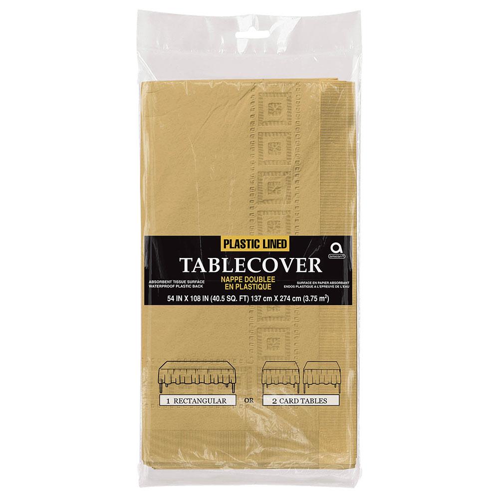57115.19 ペーパー テーブルカバー(ゴールド)